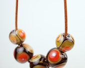 Hand Blown Glass Jewelry // Op Art // Hand Blown Glass // Long Necklace