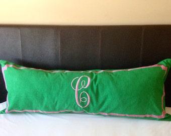 Long Body Pillow Cover, Body Pillow Case, Personalized Body Pillows, Long Monogram Throw Pillow Cover 20x54