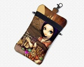 Steampunk Poe cell phone bag Jasmine Becket Griffith