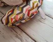 Organic Tummy Time Pillow, Geometric Triangle Mosaic