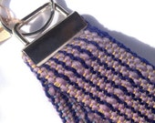 Woven Purple Key Fob Wristlet | Modern Handwoven Keychain | Striped Key Wristlet | Woven Gifts for Her | Luxe Gifts under 50 | Woven Fob