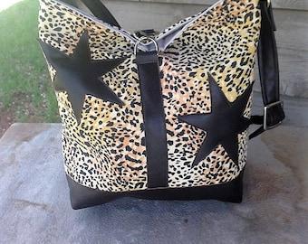Leopard Print Bucket Messengar Bag