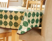 Laminated Cotton Tablecloth - Green Arrow