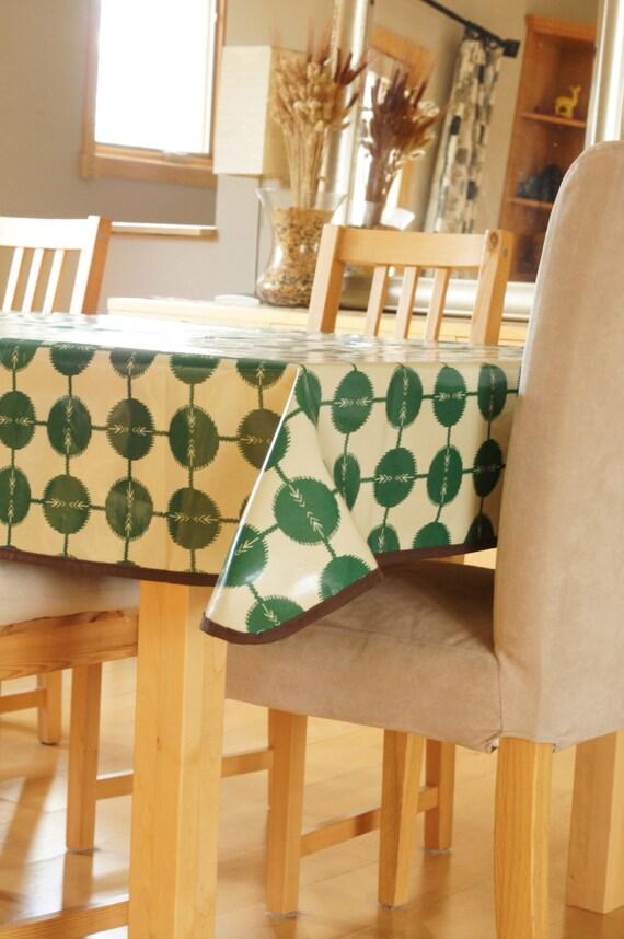 laminated cotton tablecloth green arrow. Black Bedroom Furniture Sets. Home Design Ideas