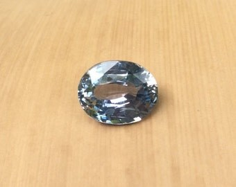 GIA Certified Sapphire - Natural Oval cut Light Blue Sapphire Loose Gemstone - Perfect for Your Oval Engagement Ring - LSG322