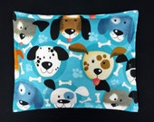 Flannel Heat Pack, Corn Heating Pad, Microwave Corn Bags, Christmas Gift for Children, Heated Bag, Cold Pack - Dog Faces