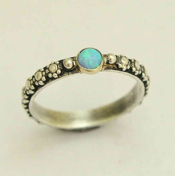 bohemian wedding rings silver engagement ring opal ring boho ring tribal ring 2005