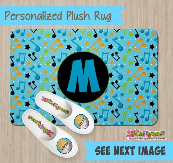 Personalized Musical Notes Rug