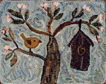 Almond Blossoms rug hooking patterns
