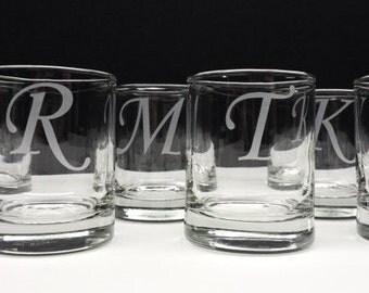 192 Wedding Monogram Candle Holders Engraved Glass Votive Holders Anniversary Decor Custom Personalized Wedding Favors