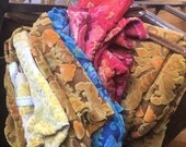 RESERVED  *** Bundle of Vintage Bates velvet fabric. Moving sale!