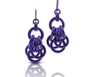 Purple Everyday Earrings // Everyday Dangle Earrings // Gift Ideas for Best Friend Women // Summer Everyday Earrings
