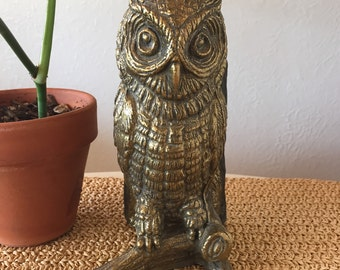 Brass Owl Bookend