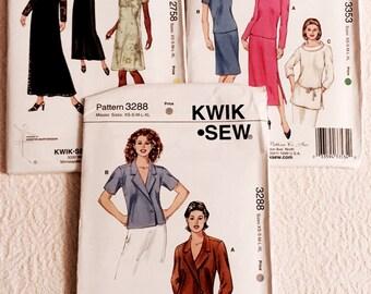 3 Kwik Sew Patterns.    NEW.   all sizes