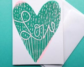 Love in Cursive Greeting Card