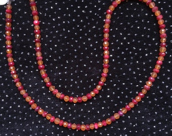 Ruby and Carnelian Necklace  N36