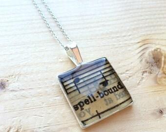 Spellbound Sheet Music Necklace