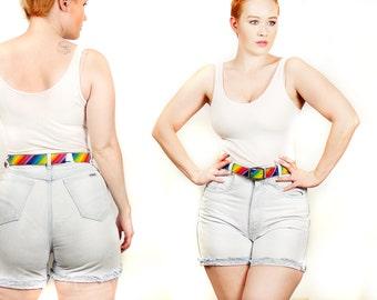 80s Denim High Waist Shorts