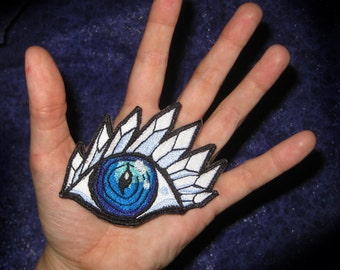 Open Crystal 3rd Eye Iron On Patch