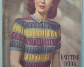 RESERVED Munrospun Knitting Book No. 8 Vintage 1940s Knitting Patterns Book 40s original patterns women's men's knitwear cardigans lingerie