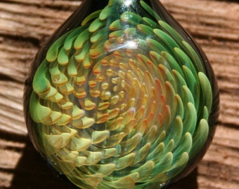 Ethereal Vortex Glass Pendant- Contemporary Boro Glass Art Necklace