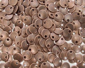 8x1.5mm Antique Copper Base Metal Lentil/Charm - Qty 10 (G423)