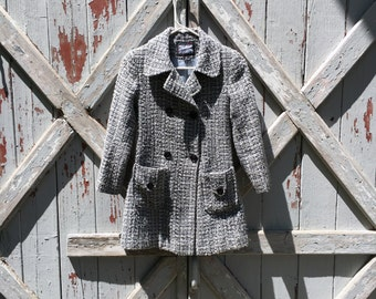 vintage 1960s coat M L girls