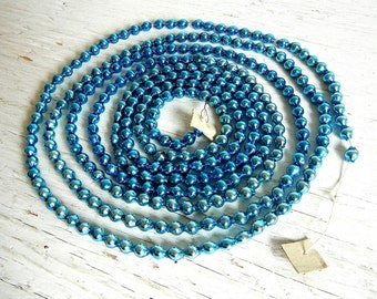 Vintage Christmas Glass Garland | Aqua Blue Garland | Christmas Tree Decoration