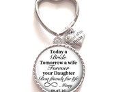 Mother of the Bride Gift, Personalized Keychain, Mother of the Bride Keychain, Wedding Kechain, Style 643