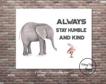 Nursery Art, Newborn Baby Gifts, Girls Nursery Art, Boys Nursery Art, INSTANT DOWNLOAD, YOU Print, Elephant Nursery Art, Animal Nursery