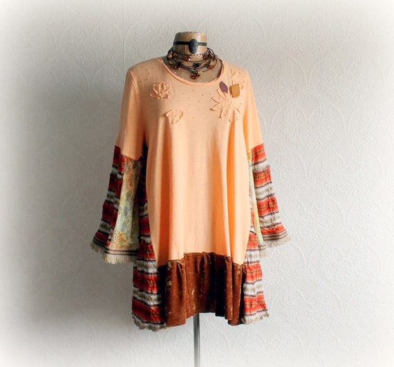 Plus Size Top Rustic Clothing Boho Chic By Brokenghostclothing