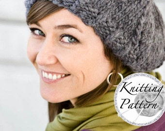 Knitting Pattern for Women's Chunky Hat - Adelyn