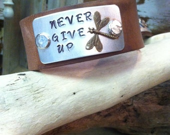 Leather Bracelet Stamped with your own saying, Personalized Bracelet with your saying,Custom jewelry,Custom bracelet