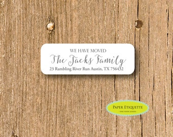 We Have Moved Customized Return Address Labels  - Custom Holiday Address Labels, Self-adhesive Address Sticker, Personalized Address Label