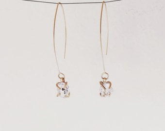 Limited Edition Genuine Herkimer Diamond Crystal earrings