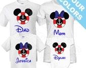 Family Mickey Minnie Vacation Shirts. Disney Cruise Family Shirt. Disney Vacation Shirt. Family Cruise shirts.