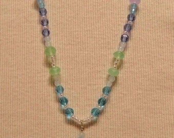 SALE - 50% OFF - By The Sea Necklace Glass Bead Necklace