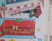 Vintage Christmas Transfers McCall's Holiday Decor Themes for Stockings, Tablecloth, Mantel Cover Retro Designs Applique Figures Felt Crafts