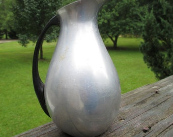 Vintage Aluminum Small Pitcher..MMM..Made in Spain..Madrid Metallic Manufacturer..Retro Kitchenware..Mid Century..Rustic Cabin Collectible