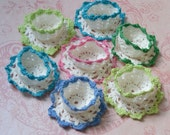 Vintage Hand Crocheted Nut Cups Party Favors Lot of 7