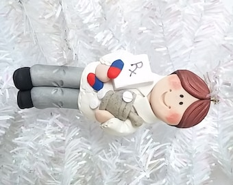 Pharmacist Gift - Pharmacist Christmas Ornament - Pharmacy Tech Ornament - Polymer Clay Pharmacist Ornament - Pharmacy Student  - 71910