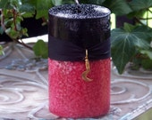 """REVERSING & TWISTING Double Action Black Over Red """"Old European Witchcraft""""™ Pillar Candle - Let Your Enemies Reap As They Have Sown"""