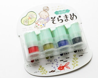versacraft  ink pads. japanese rubber stamp pad. multipurpose for paper fabric wood. preinked daubers. for planner stamp. set of 4. kingyo