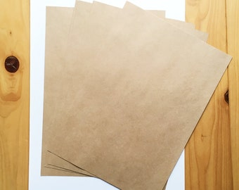 kraft paper. A4 paper sheet. brown paper stock. 0.13mm thick. 100g/m2 weight. diy wedding birthday scrapbooking. paper crafts. set of 10