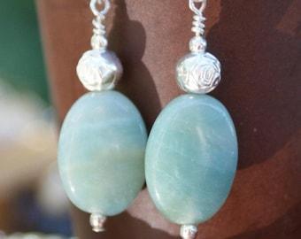 Aventurine Sterling Silver Earrings
