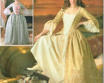 Marie Antoinette Pirate Reenactment Dress Gown Simplicity 4092 Sewing Pattern Halloween Costume  Plus Size 14 16 18 20 bust 36 38 40 42