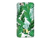 Monogrammed iPhone Case - PALM LEAF (iPhone 6s, iPhone 6, iPhone 6 plus, iPhone 5)