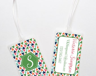 Luggage Bag Tag- Triangles
