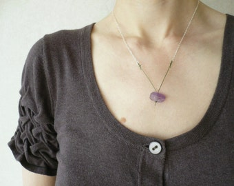 Facet - a Contemporary Gemstone Necklace in Amethyst and Sterling Silver by Kirsty O'Donnell