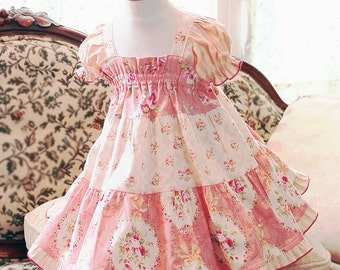 Pink Toddler Dress Girl Toddler Gift Summer Toddler Girl Clothes Cotton Toddler Baby Dress Size 3 6 9 12 18 24m 2T 3T 4T Rose Toddler Outfit